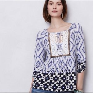 Watercolor Lace printed Top